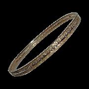 Antique Engraved 14k Yellow Gold Bangle Bracelet