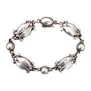 Georg Jensen Sterling Moonlight Blossom Bracelet