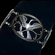 Coro Norseland Sterling Elegant Bird Bracelet