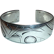 Native American Barry Herem Raven Cuff Bracelet