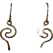 14k GF Curled Wire Pierced French Wire Earrings