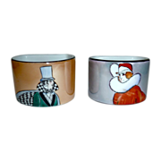 Art Deco Noritake Man & Woman Napkin Rings