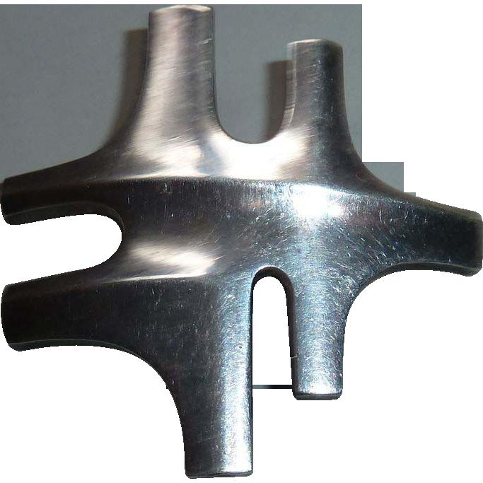 Georg Jensen Sterling Modernist Abstract Pin