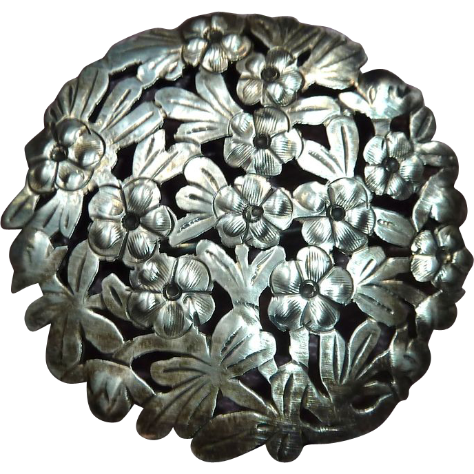 Arts & Crafts Floral Sterling Pin by Stavre Gregor Panis