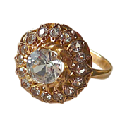 Quartz Crystal Cluster 18k Rose Gold Ring
