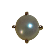 Anson Gold Filled Cultured Pearl Tie Clutch Pin MIB