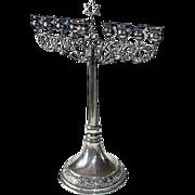 Fabulous Judaica 800 Silver Hanukkah Menorah