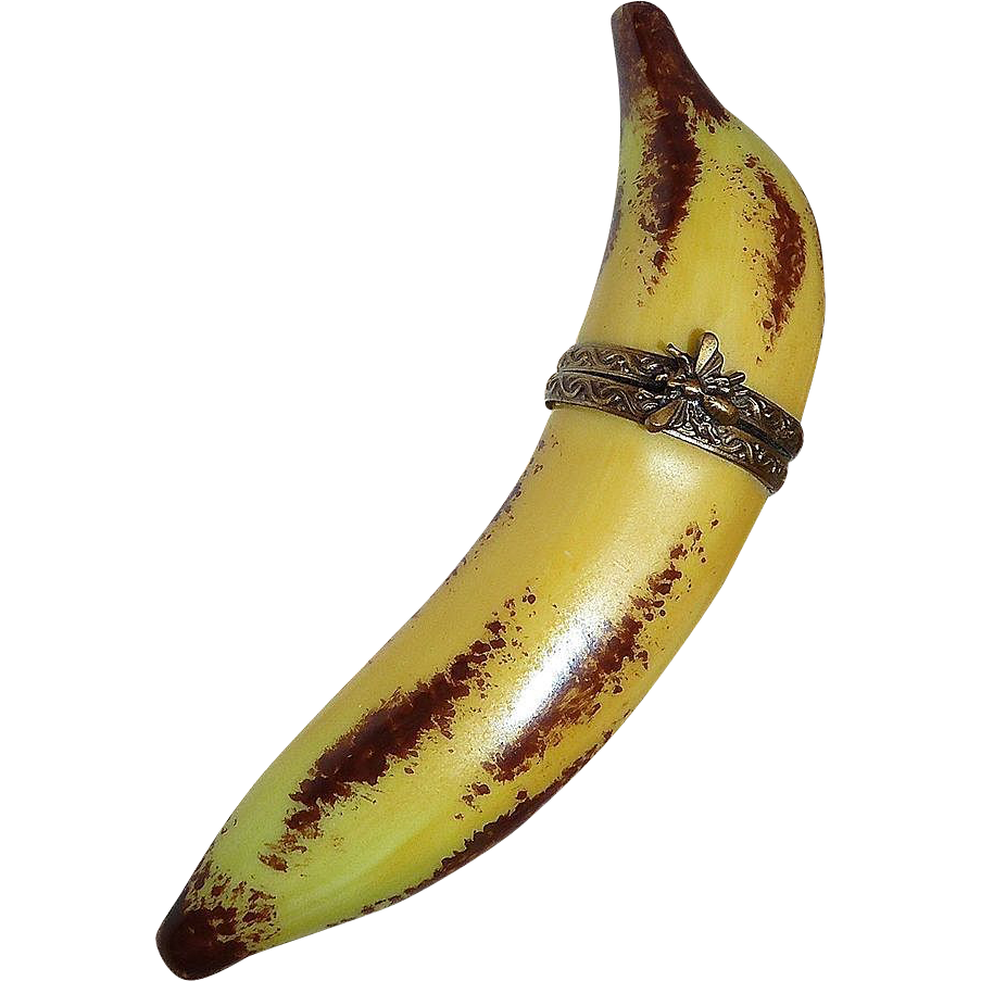 Vintage Limoge France Porcelain Banana Fruit Trinket Box