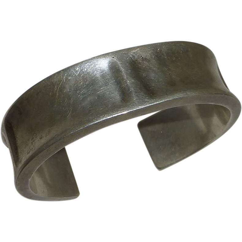 Mexican Sterling Chunky Cuff Bracelet