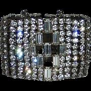 Dazzling Wide Rhinestone Bracelet