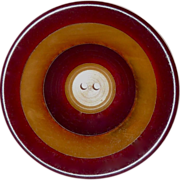 Two Color Laminate Large Bakelite Concave Button