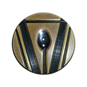 Art Deco Carved Celluloid XL Button