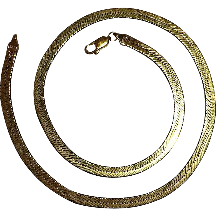 Quality 14k Wide Herringbone Chain