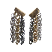 Napier Multi Chain Drop Screw-Clip Earrings