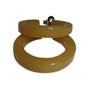 Butterscotch Bakelite Vintage Storestock Pierced Hoop Earrings