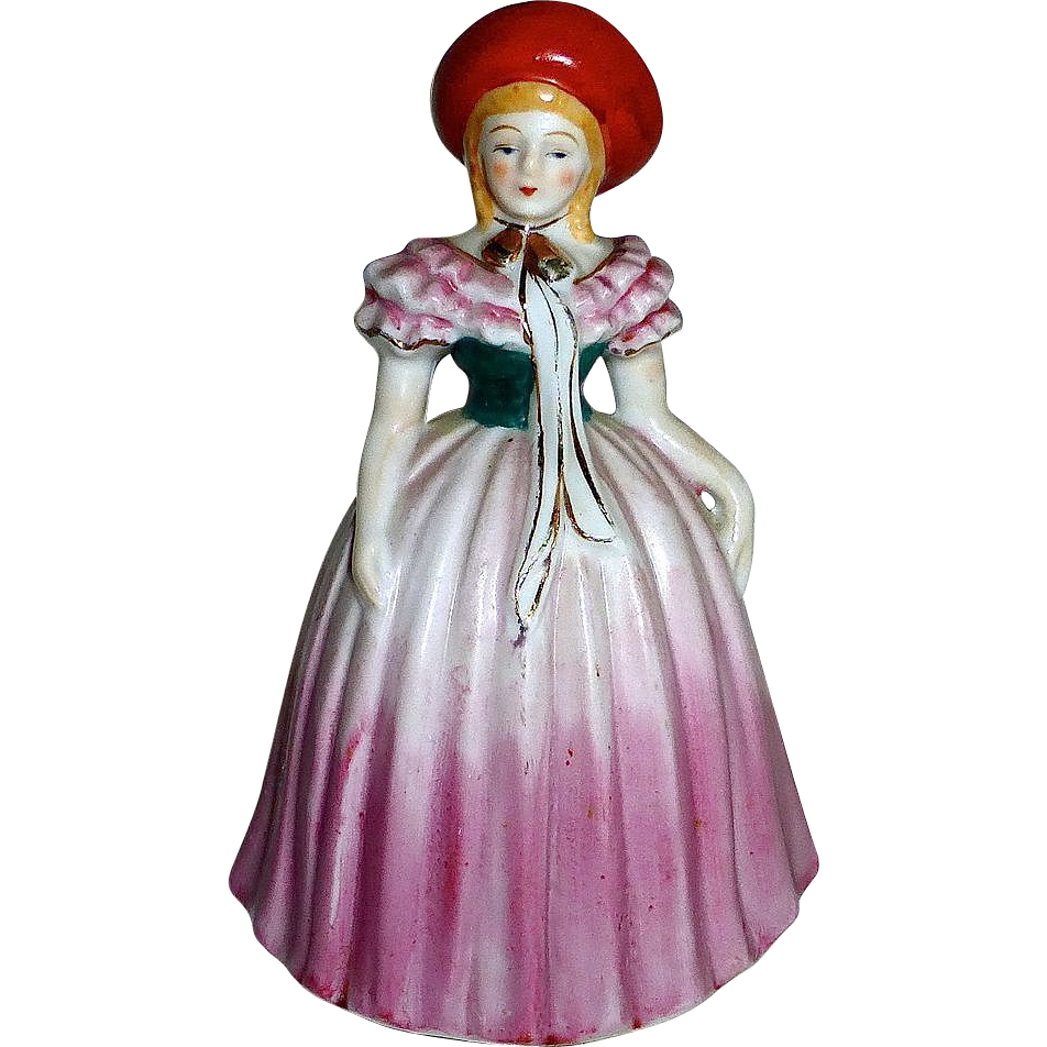 Occupied Japan Porcelain Southern Belle Figurine