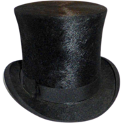 Antique Victorian Beaver Top Hat