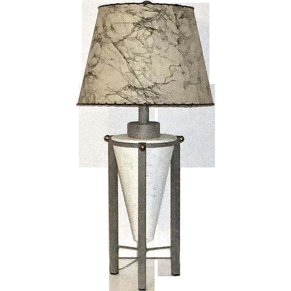 Mid Century Modern Atomic Age Metal Lamp