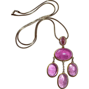 14k Rubellite Tourmaline Pendant Necklace