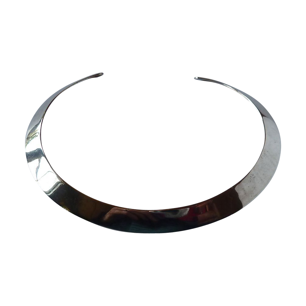 Mexican Sterling Handcrafted Wide Choker Necklace
