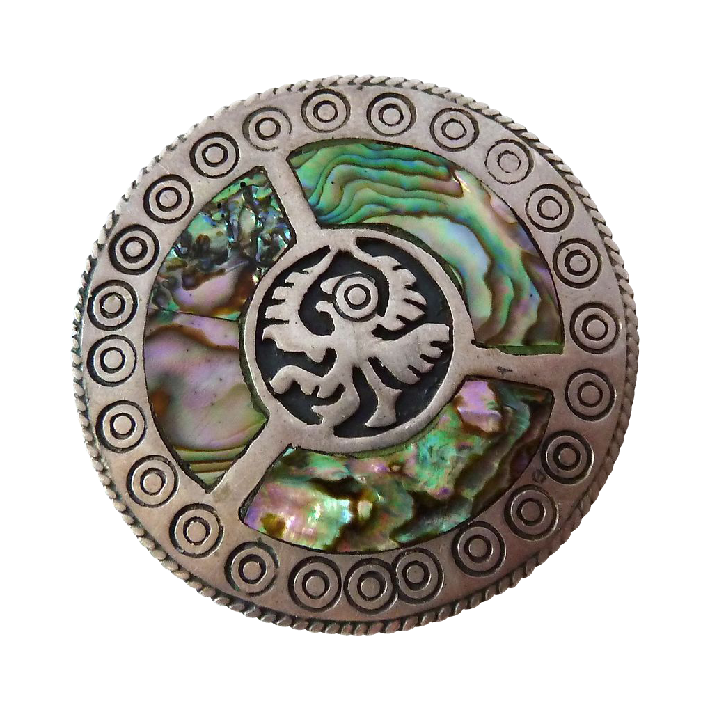 Mexican Sterling Abalone Pin/ Pendant