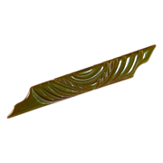 Art Deco Carved Olive Green Bakelite Bar Pin