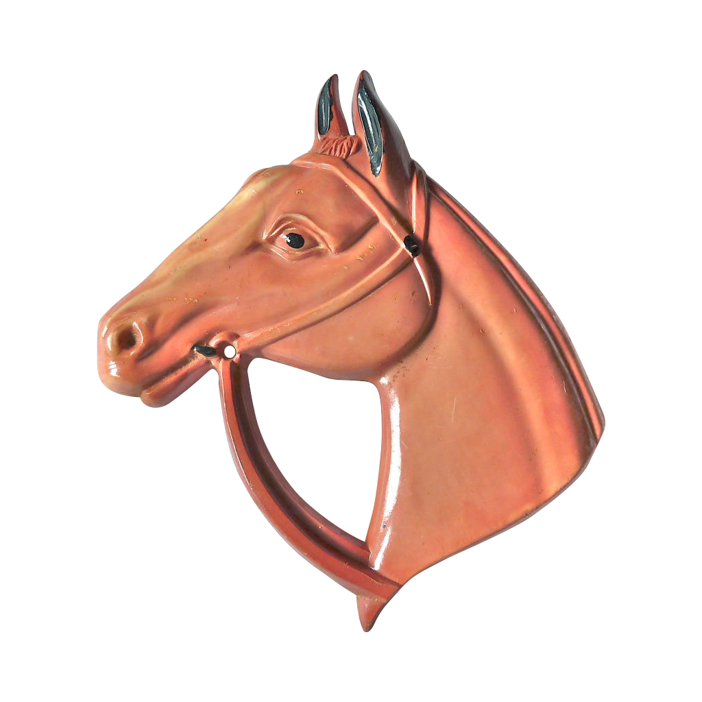 Molded Early Plastic Horse Head Pin