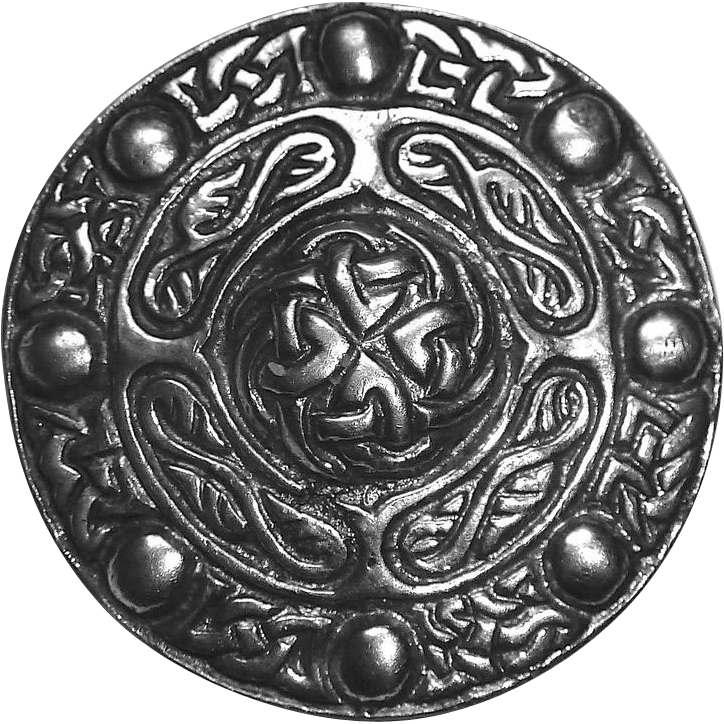 Antique Celtic Sterling Domed Knot Pin