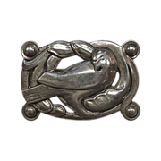 Coro Norseland Sterling Large Dove Pin