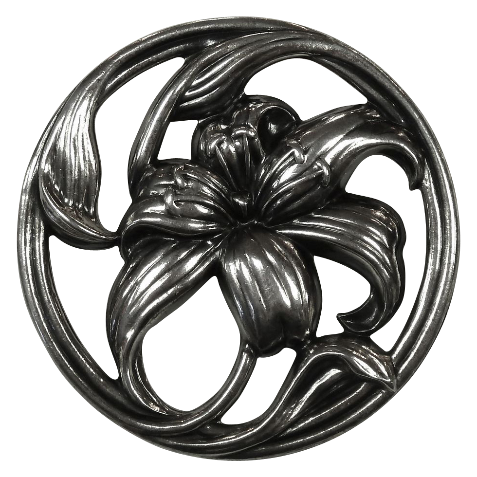 Danecraft Sterling Exotic Lily Pin