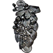 Hobe Sterling Intricate Layered Floral Spray Pin