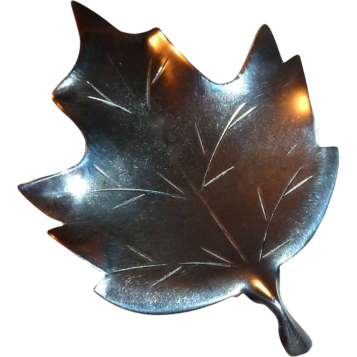 Handcrafted Sterling Maple Leaf Pin Stuart Nye