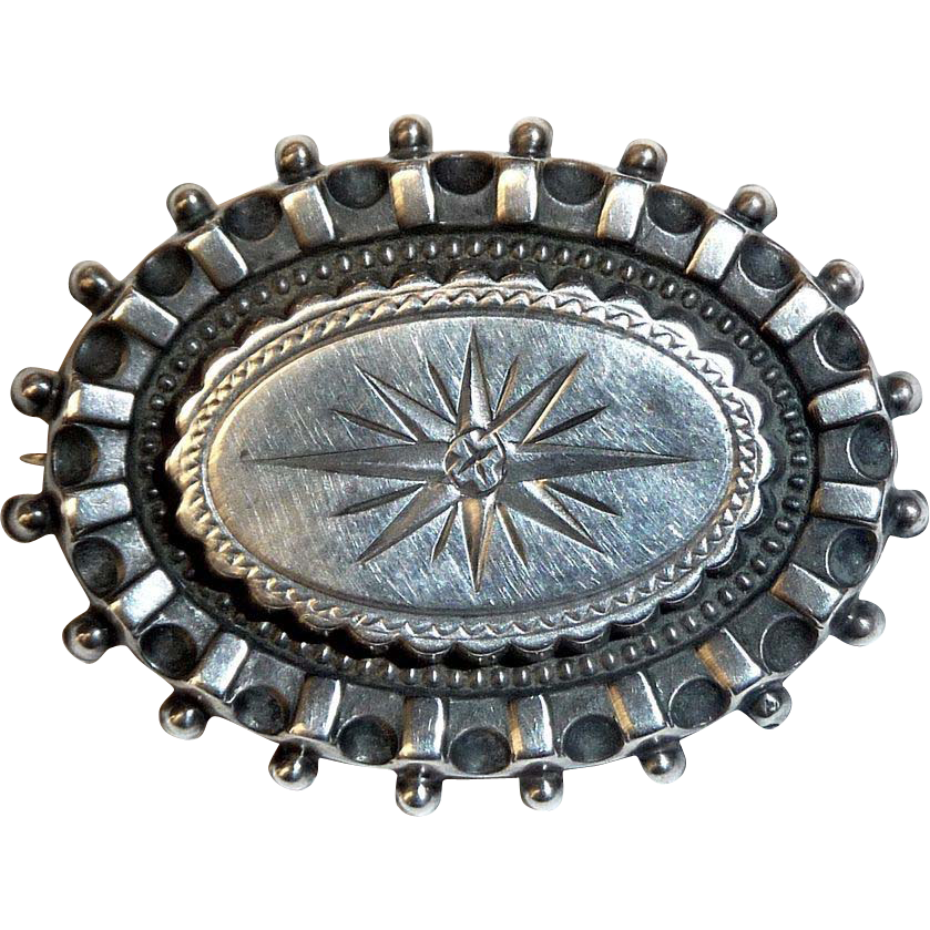 Antique Sterling Aesthetic Starburst Pin