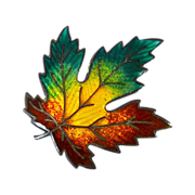 Sterling Enamel Vibrant Autumn Maple Leaf Pin