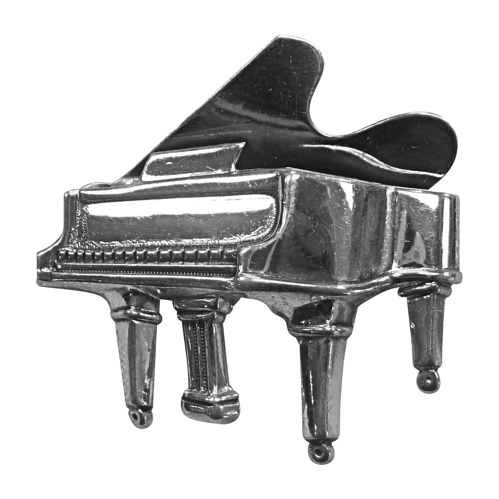 Beau Sterling Grand Piano Pin