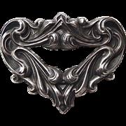 Antique Art Nouveau Pin Sterling Top