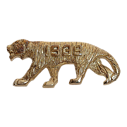 1939 Costume Gold Tone Figural Tiger Pin