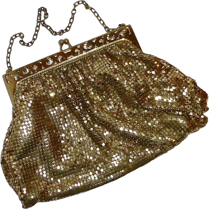 Whiting Davis Gold Mesh Evening Purse