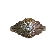 Black Hills Rose~Yellow~Green Gold 10k Diamond Ring