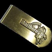 Marlboro Man Advertising Brass Money Clip