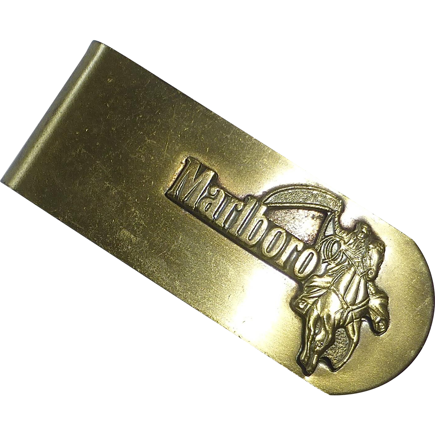 Marlboro Man Advertising Brass Money Clip
