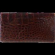 Genuine Alligator Checkbook Cover