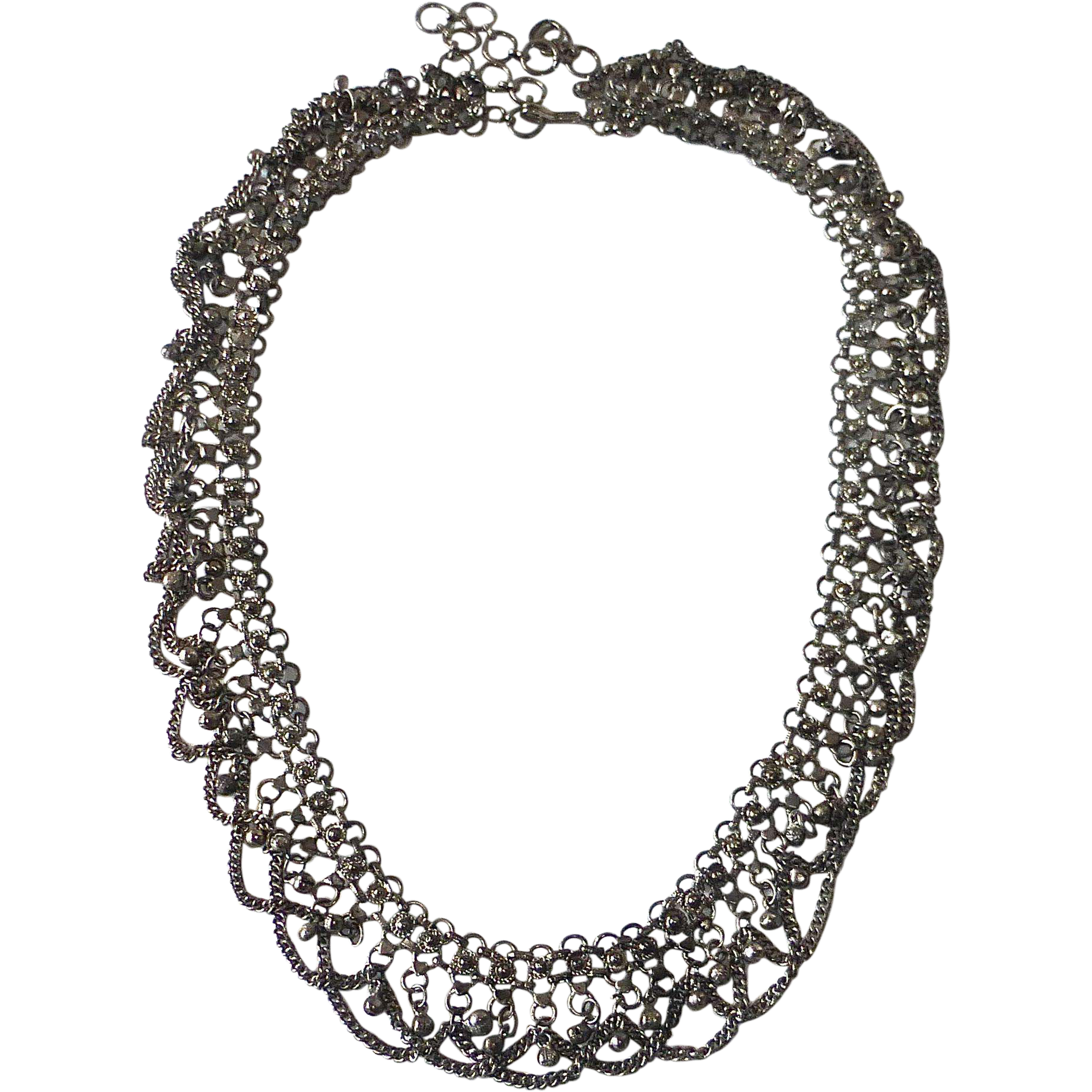 Vintage Silver Metal Belly Dancer Belt or Necklace