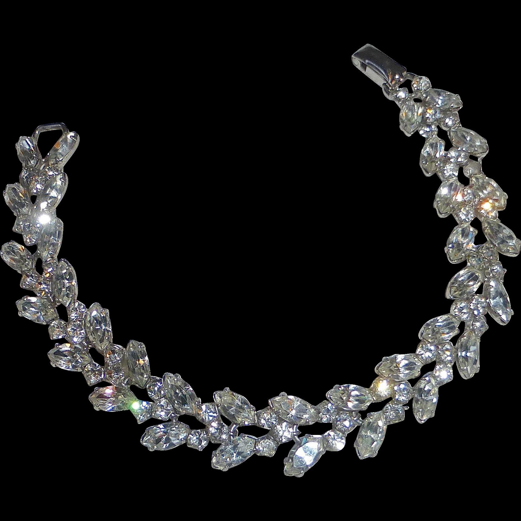 Sterling Silver HSB Rhinestone Bracelet