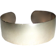 Sterling Satin Finish Wide Cuff Bracelet S. Kirk & Son