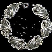Viking Craft Sterling Silver Flower Bracelet