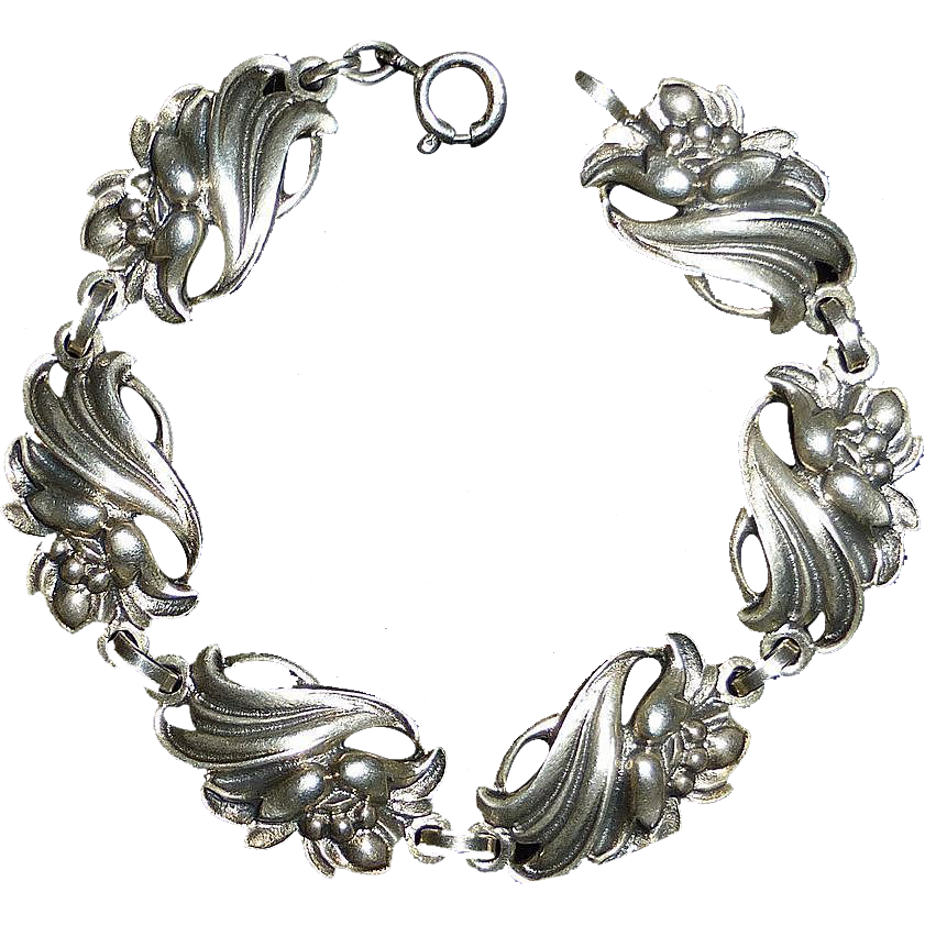 Viking Craft Sterling Silver Flower Bracelet
