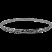 Danecraft Felch Dimensional Curl Design Bangle Bracelet