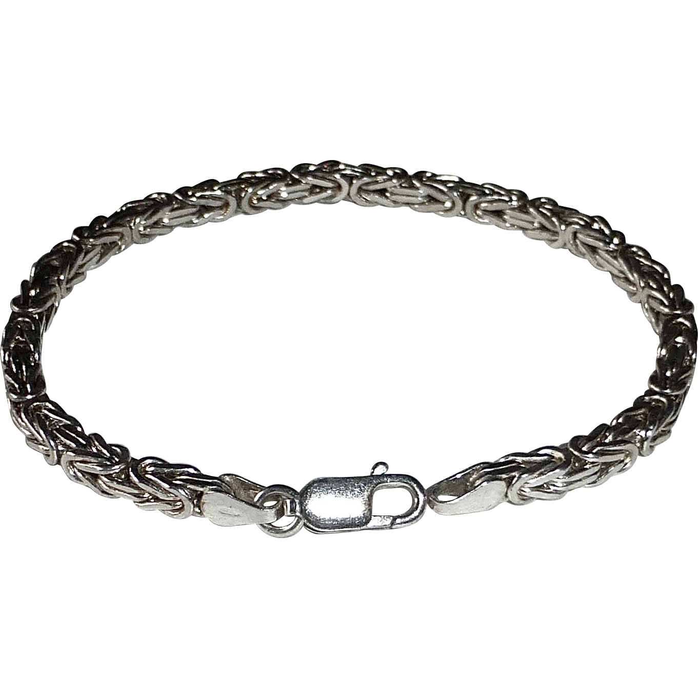 Sterling Silver Woven Square Chain Bracelet