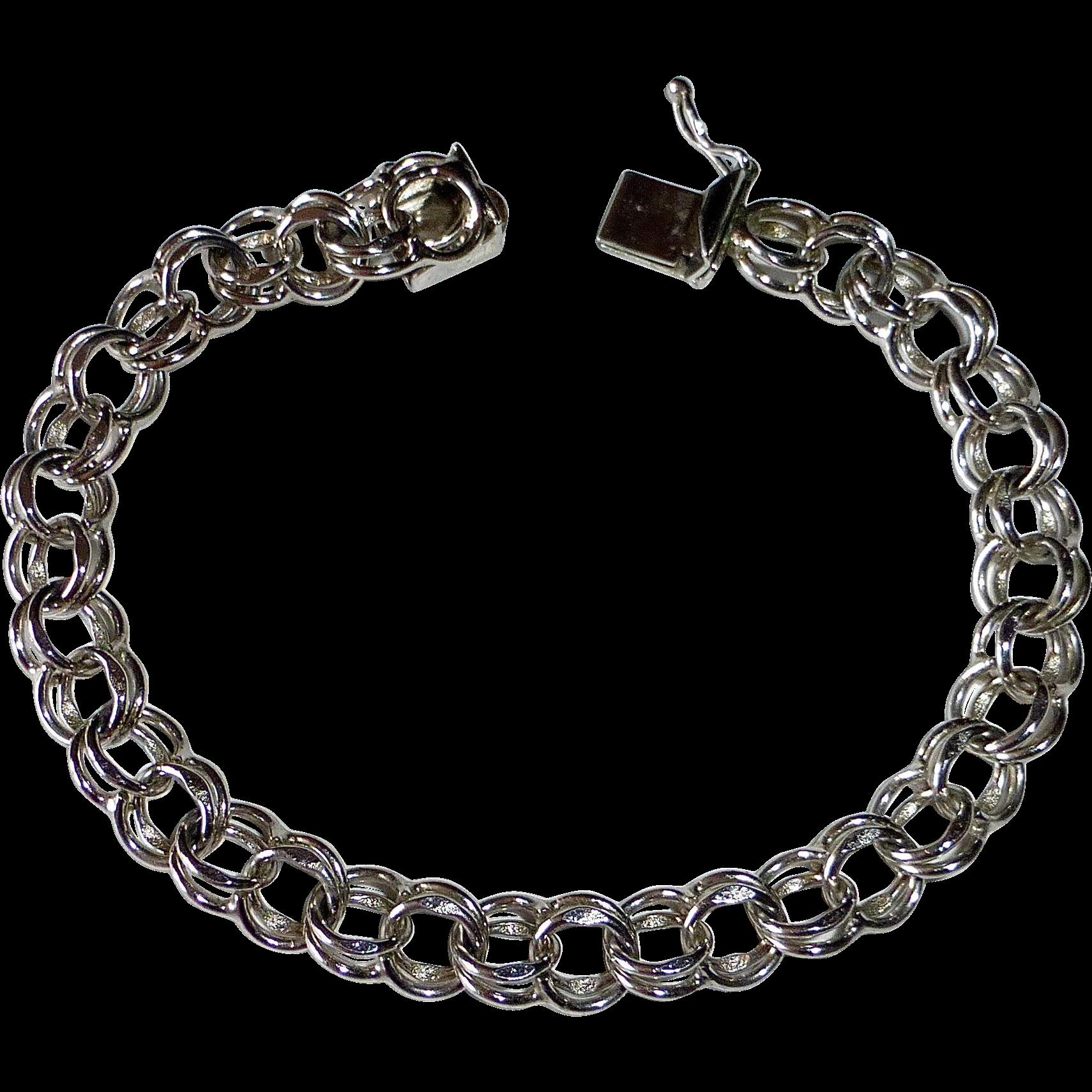 sterling link starter charm bracelet from rubylane